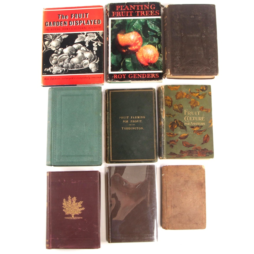 Fruit Farming, Culture and Propagation Books Including First Editions