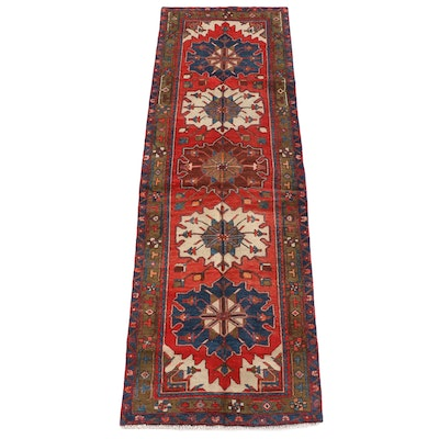 3'7 x 11'4 Hand-Knotted Persian Shirvan Wool Long Rug