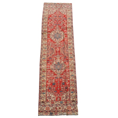 2'6 x 10'3 Hand-Knotted Persian Kelardasht Wool Carpet Runner