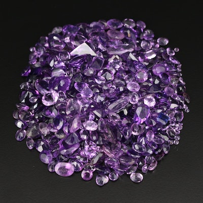 Loose 261.41 CTW Mixed Faceted Amethyst