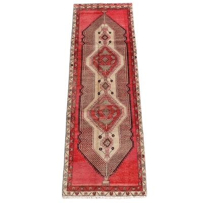 3'1 x 9'9 Hand-Knotted Persian Khamseh Wool Carpet Runner