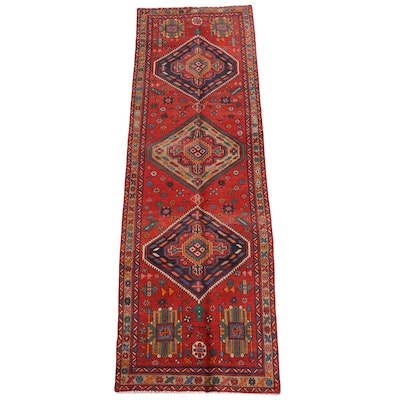 3'3 x 10'11 Hand-Knotted Persian Gorevan Wool Long Rug