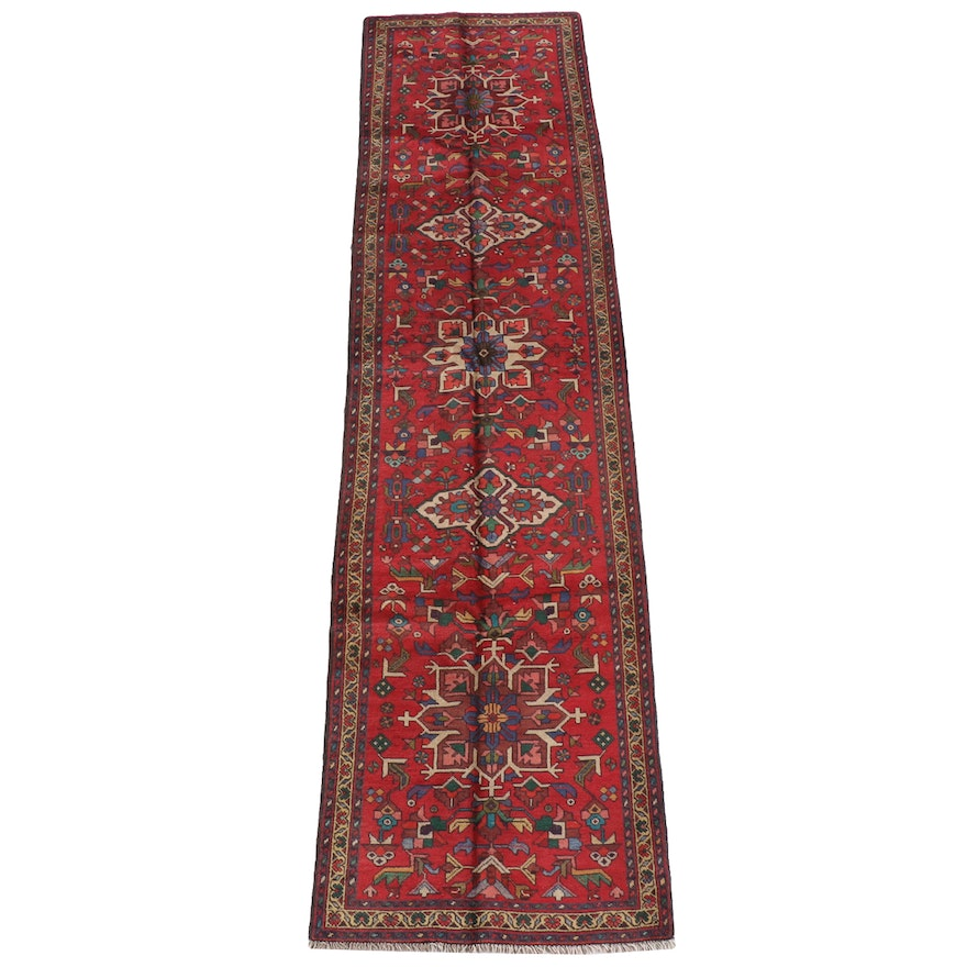 3'2 x 13'2 Hand-Knotted Persian Heriz Wool Long Rug