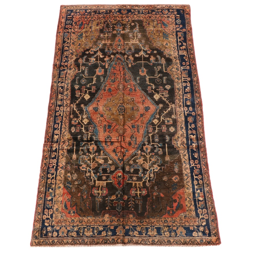 5'2 x 9'5 Hand-Knotted Persian Malayer Wool Rug