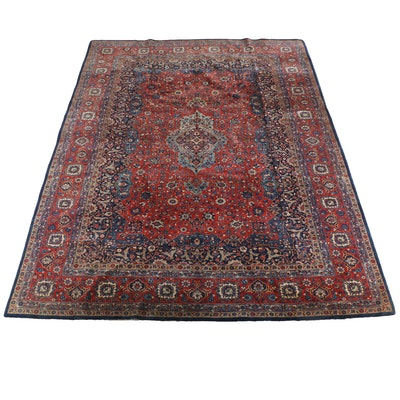10'4 x 14'7 Hand-Knotted Persian Kashan Wool Rug