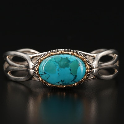 Barse Sterling Turquoise Cuff