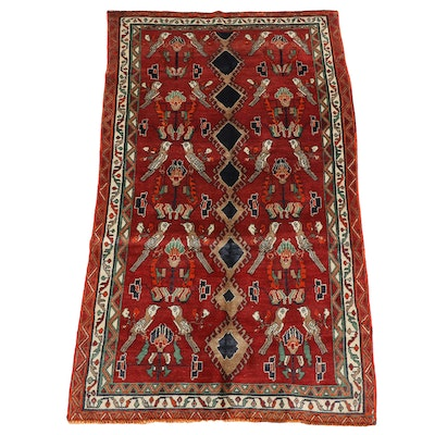4'9 x 7'11 Hand-Knotted Persian Karabagh Wool Rug