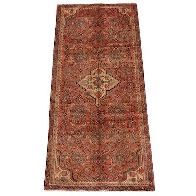 3'9 x 8'11 Hand-Knotted Persian Hamadan Wool Long Rug