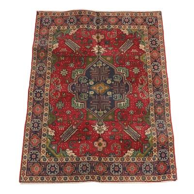 4'9 x 6'3 Hand-Knotted Anatolian Wool Rug