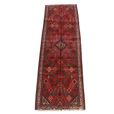 3'11 x 12'7 Hand-Knotted Caucasian Kazak Wool Long Rug