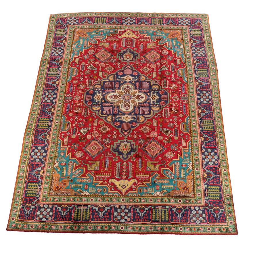 8'3 x 11'8 Hand-Knotted Caucasian Dagestan Wool Rug