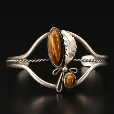 Sterling Silver Tiger's Eye Quartz Cuff