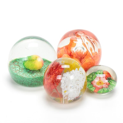 Venetian Blown Art Glass Paperweights, Mid-20th Century