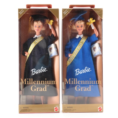 Mattel Millennium Grad Barbie Dolls in Original Packaging