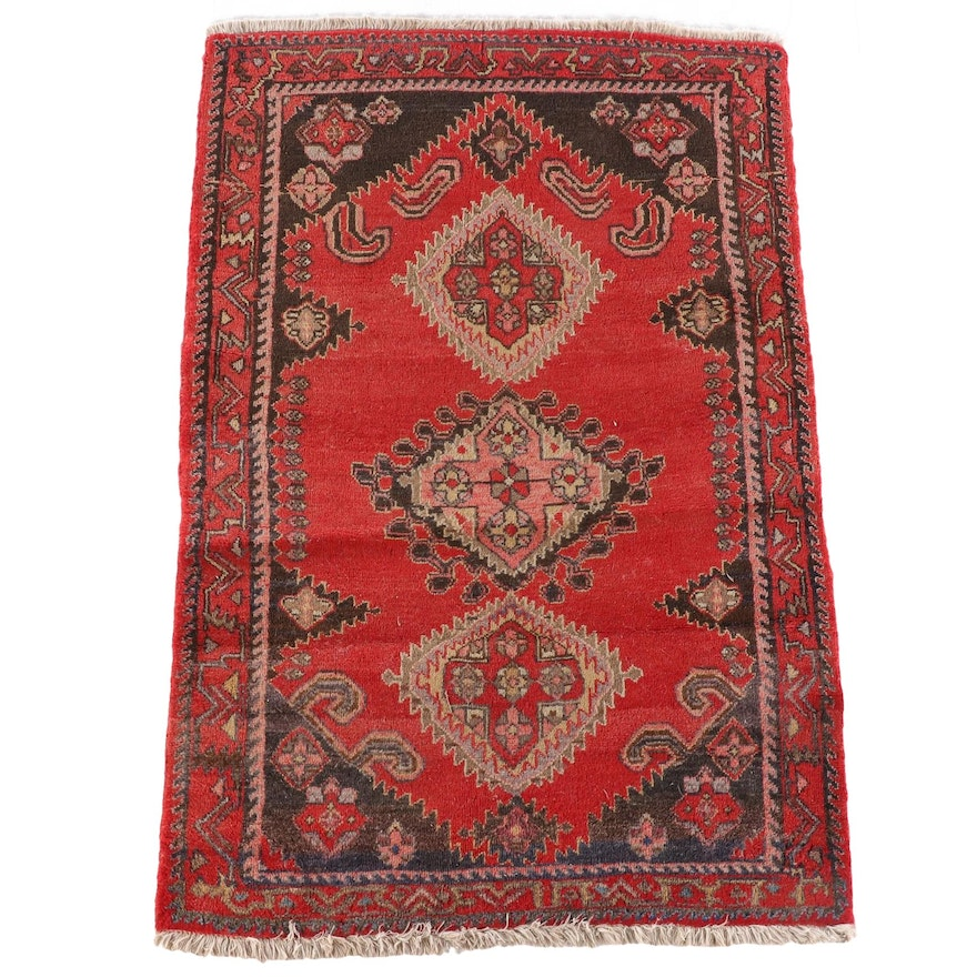 3'8 x 5'7 Hand-Knotted Persian Yalameh Wool Rug