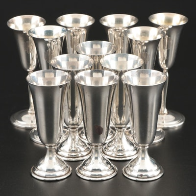 Frank M. Whiting and Gunnard Sterling Silver Cordial Glasses
