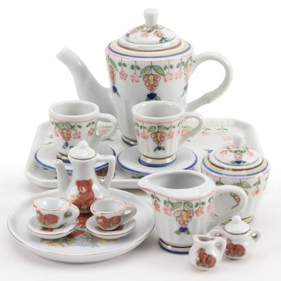 Child's Miniature Porcelain Tea Sets, Early to Mid-20th Century