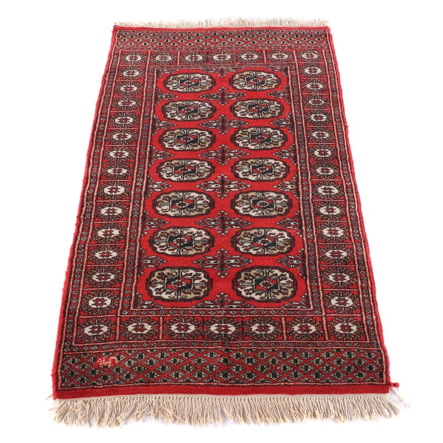 3'1 x 5'6 Hand-Knotted Signed Afghani Bokhara Wool Rug