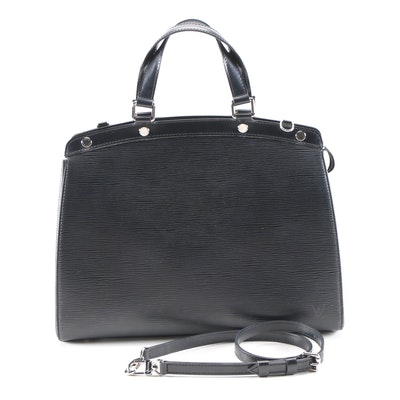 Louis Vuitton Brea GM Bag in Black Epi and Smooth Leather