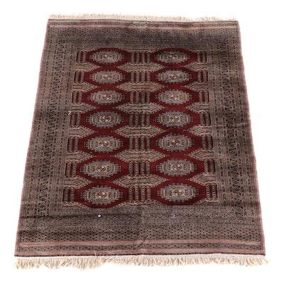 6'2 x 8'0 Hand-Knotted Signed Pakistani Bokhara Wool Rug