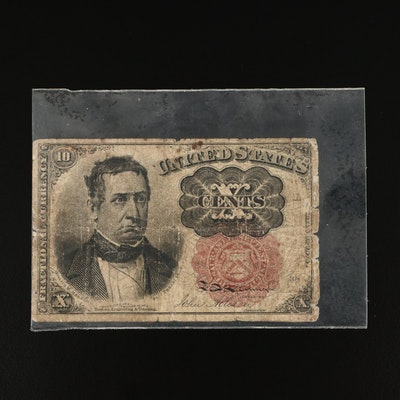 1874 Fifth Issue 10-Cent Fractional Currency Note