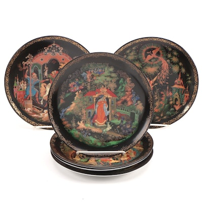 """Tianex """"Russian Legends"""" and """"Fairy Tales"""" Porcelain Collector Plates, 1988–1990"""
