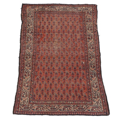 4'6 x 6'2 Hand-Knotted Persian Mir Serabend Wool Rug