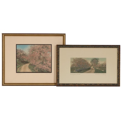 Wallace Nutting Hand-Colored Photogravures, c. 1915