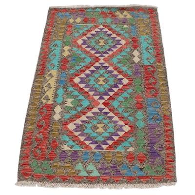 3'3 x 5'1 Handwoven Turkish Caucasian Kilim Rug