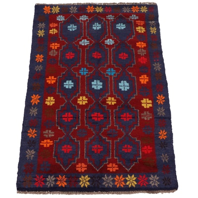 3'0 x 4'6 Hand-Knotted Afghani Baluch Rug
