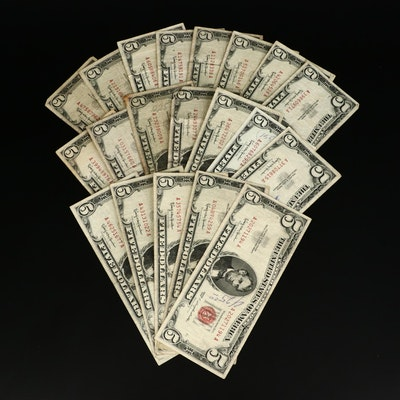 Twenty Series of 1963 $5 Red Seal United States Notes