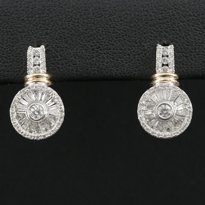 10K Gold 1.50 CTW Diamond Drop Earrings