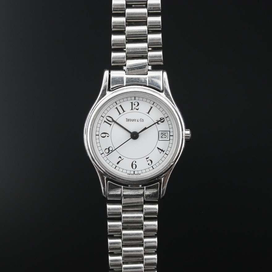 "Tiffany & Co. ""Portfolio"" Stainless Steel Quartz Wristwatch"