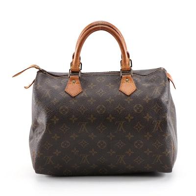 Louis Vuitton Speedy 30 Handbag in Monogram Canvas and Leather