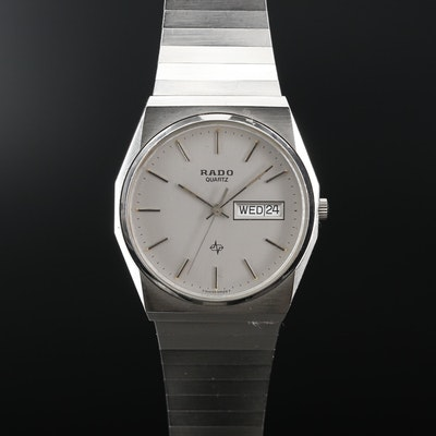 Rado Day/Date Stainless Steel Quartz Wristwatch