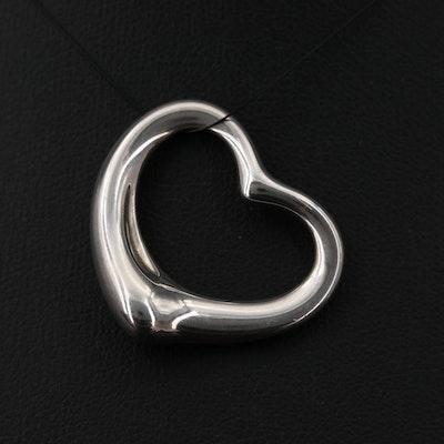Elsa Peretti for Tiffany & Co. Sterling Silver Open Heart Pendant