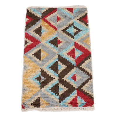1'11 x 3'2 Hand-Knotted Indo-Turkish Kilim Rug