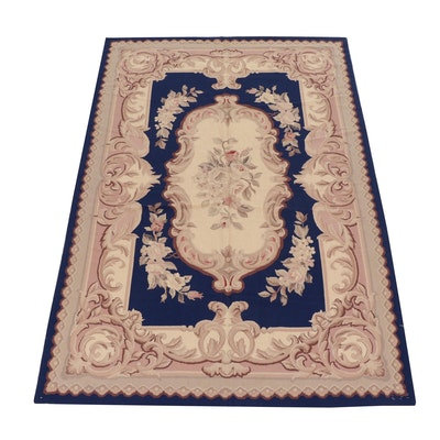 5'11 x 8'9 Handmade European French Aubusson Style Rug, 20th Century