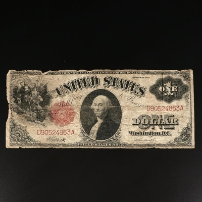 Series of 1917 $1 Red Seal Legal Tender Note