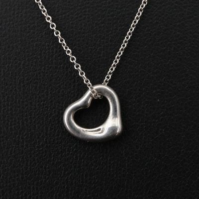 Elsa Peretti for Tiffany & Co. Sterling Open Heart Pendant Necklace