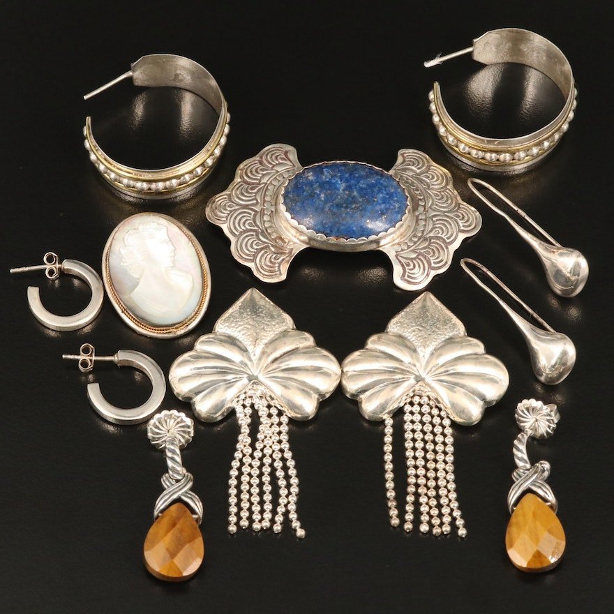Assorted Jewelry Featuring Relios, Carolyn Pollack, Tiger's Eye and More
