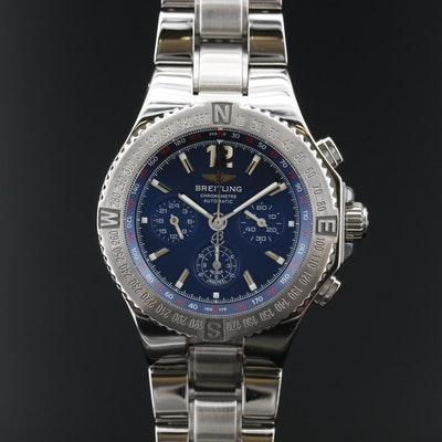 Breitling Hercules Chronograph Stainless Steel Automatic Wristwatch