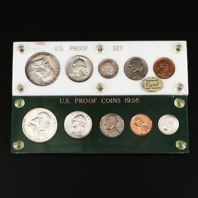 1955 and 1956 U.S. Type Coin Proof Sets
