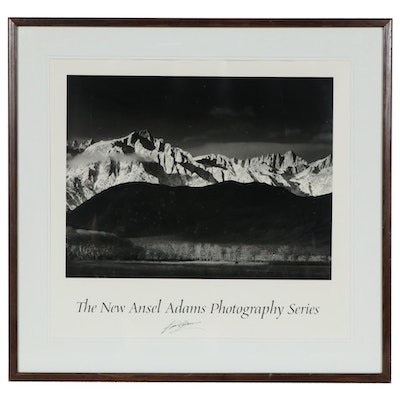 "Ansel Adams Offset Lithograph Poster ""The New Ansel Adams Photography Series"""