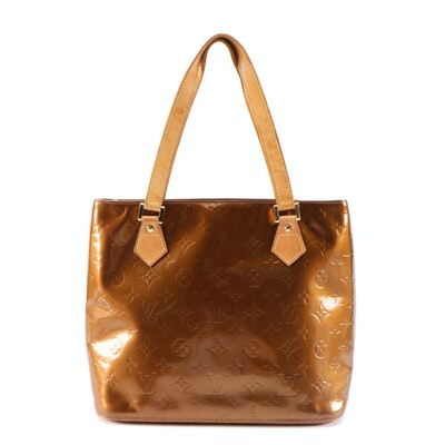 Louis Vuitton Houston Shoulder Bag in Bronze Monogram Vernis