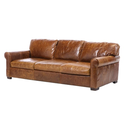 Max Home Furniture Leather Sofa