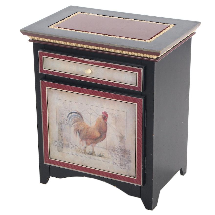"Richard Lane ""Rustic Fowl"" Decorative Small Cabinet"