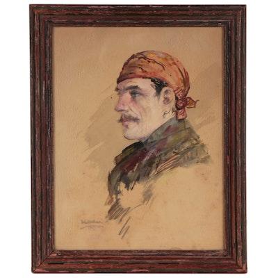Watercolor Portrait Painting, 1922