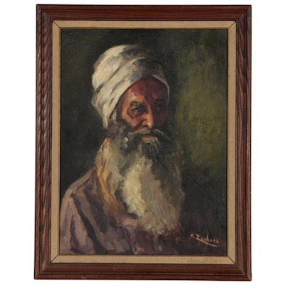 Claire Zachara Oil Painting Portrait of a Bearded Man