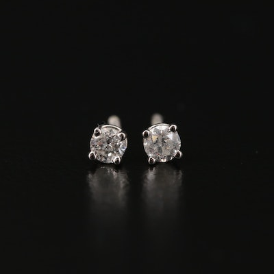 14K Gold 0.17 CTW Diamond Stud Earrings